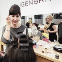 Ute mit Kunding bei Make Up und Stylinberatung zum Semperopernball Dresden