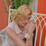 Shooting von Caro, Hairstyling mit Wasserwelle in Berlin