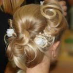 Hochsteckfrisuren: Hairstyling Brautfrisur blond