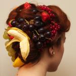 gesundes Haar durch Obst im Haar
