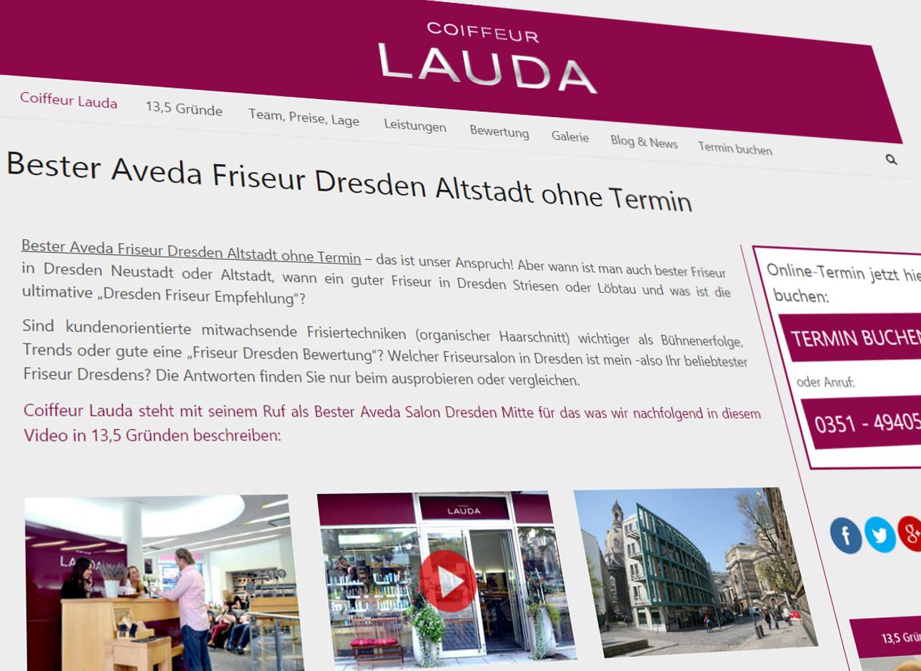 Neue SEO Webseite - Friseur Salon Coiffeur Lauda