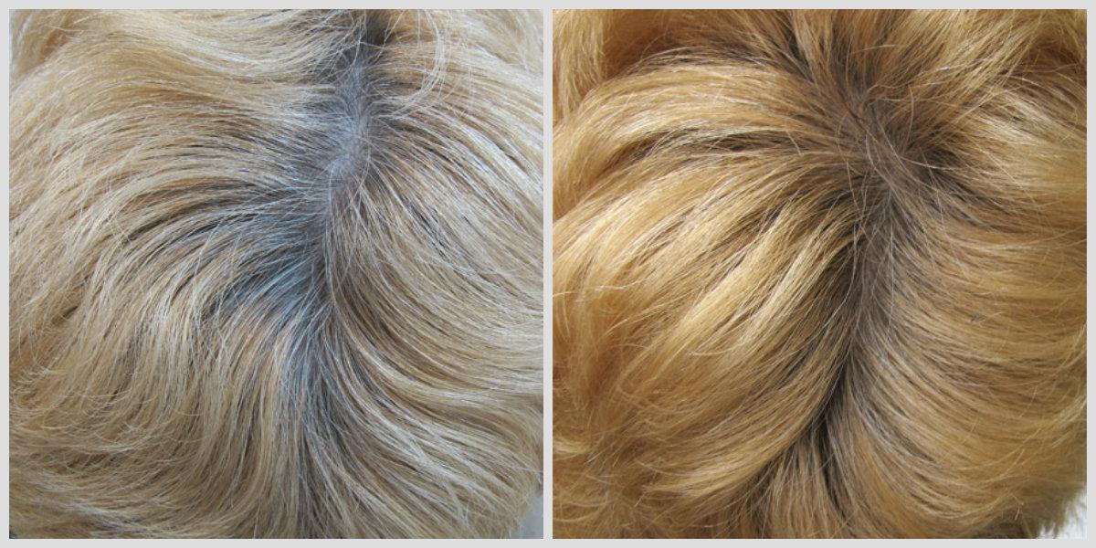 Färben grau nach blondieren Graue Haare